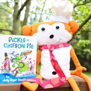 Monkey dressed as snoozle from Pickle Chiffon Pie Picture Book