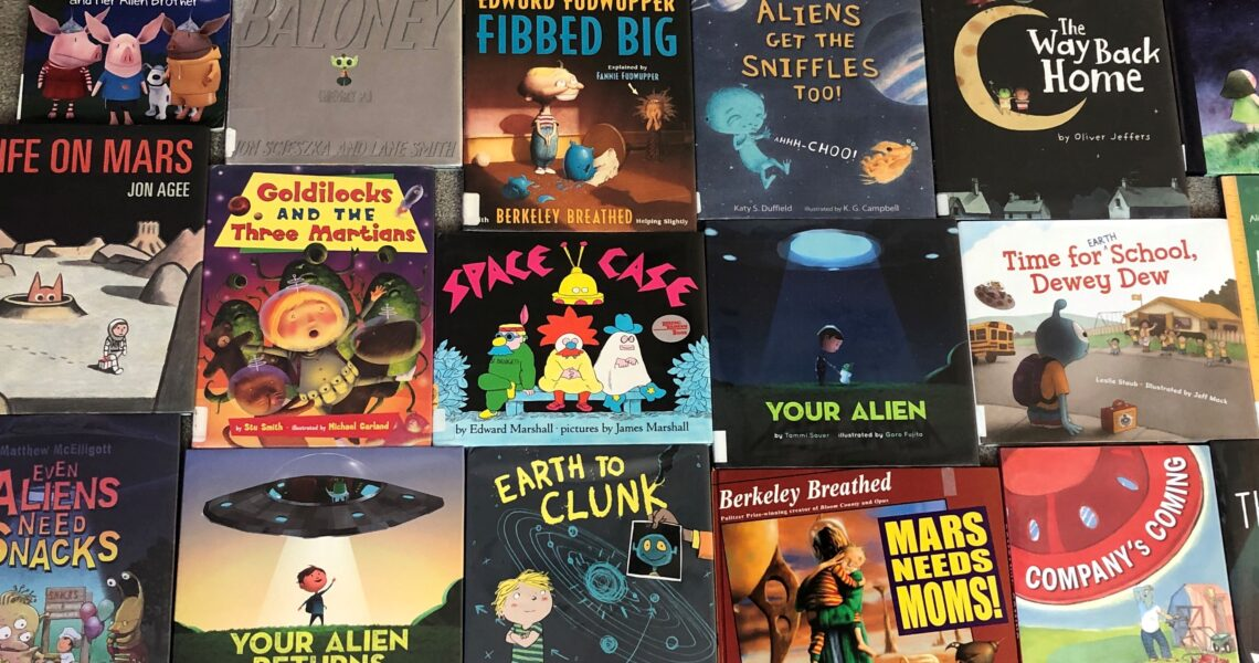 Lost of Picture Books about Aliens