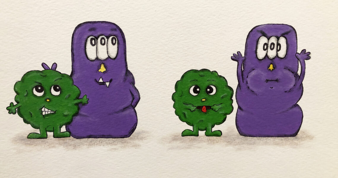 Boogie and Monster book characters by Jamie Bills