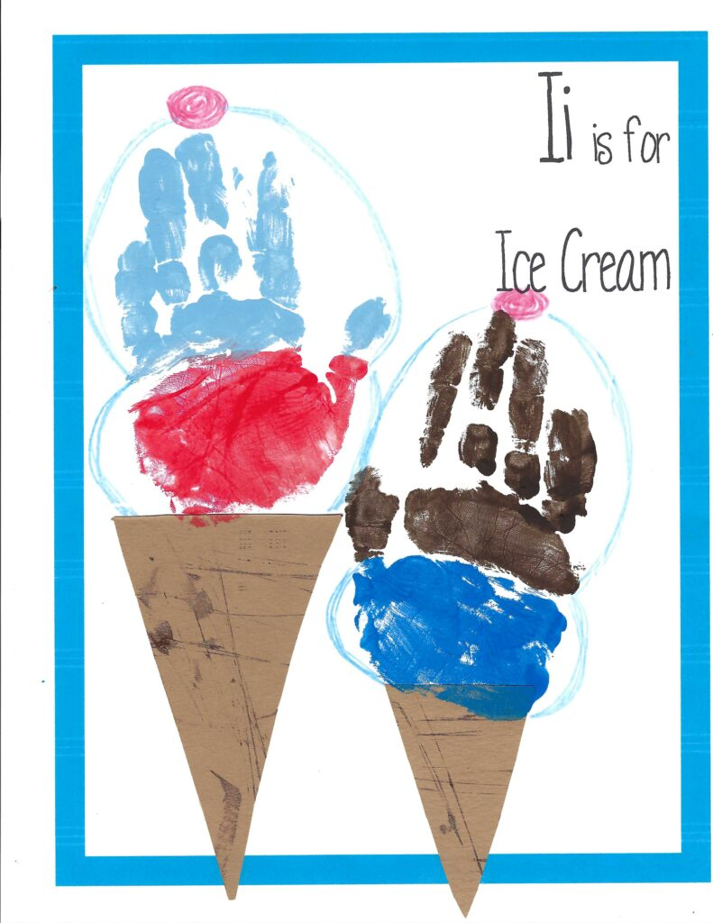 Hand-Print Ice Cream Art