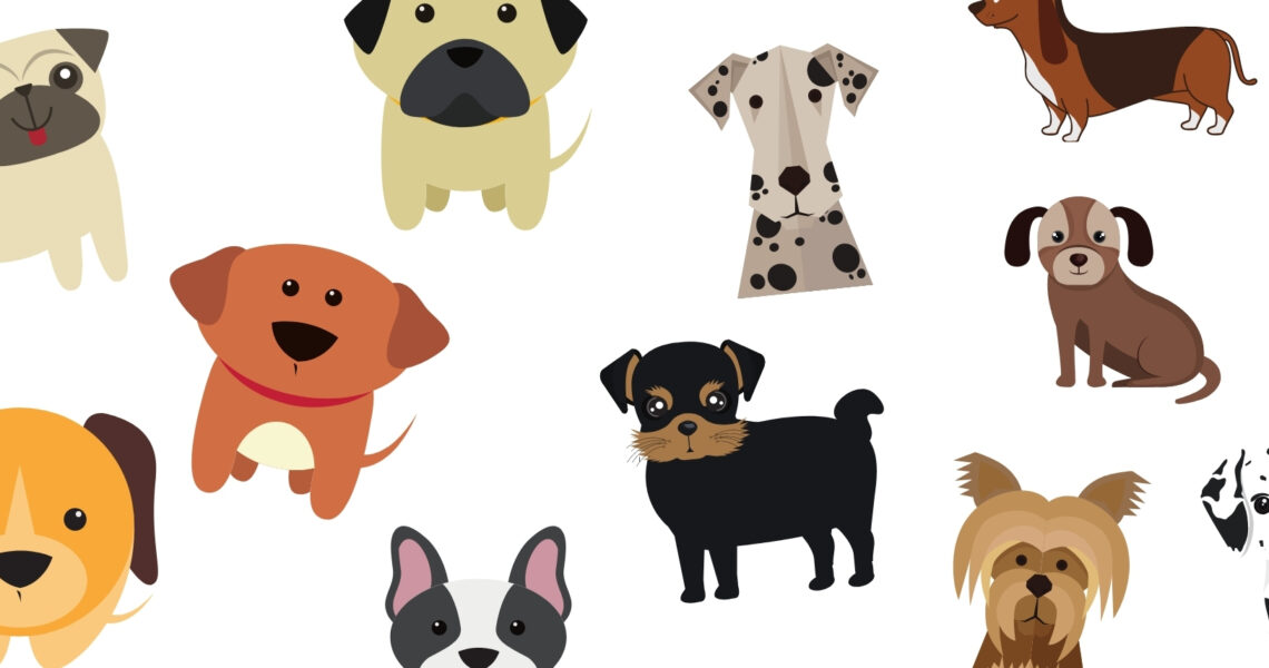 Lots of Little Cartoon Dogs