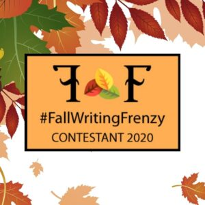Fall Writing Frenzy Contestant sign with leaves