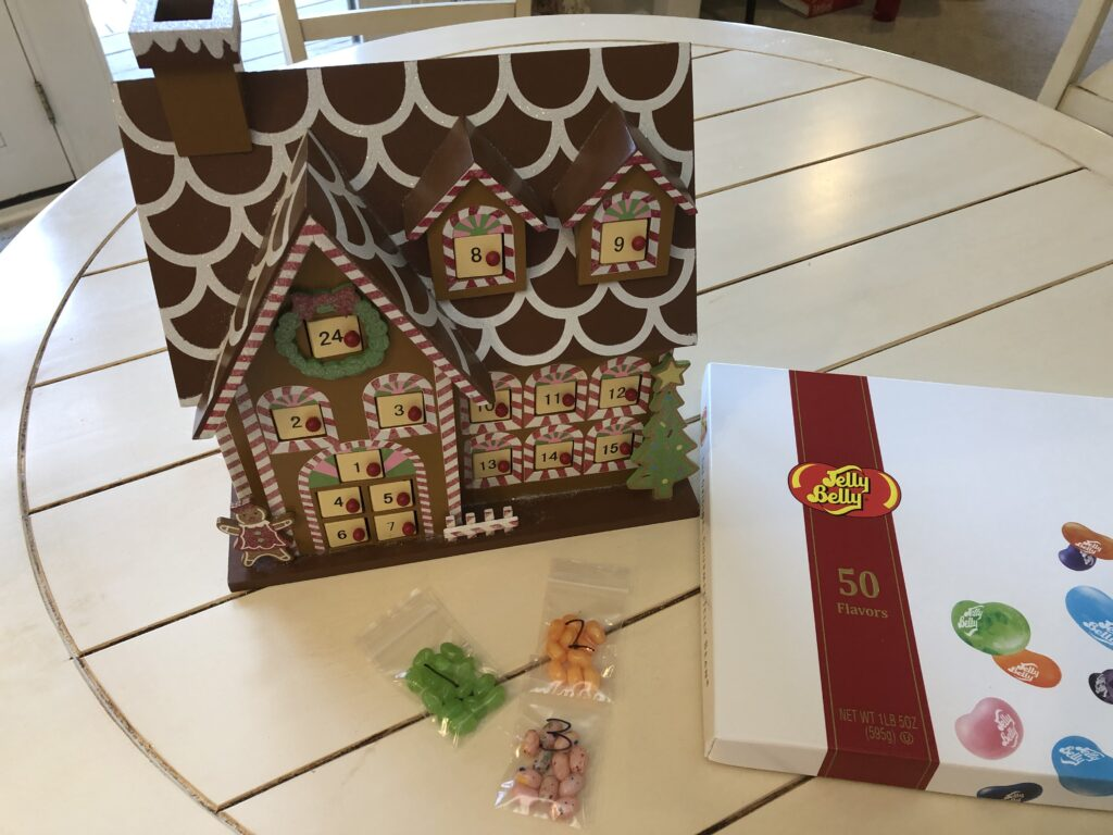 Gingerbread house and Jelly Bellys